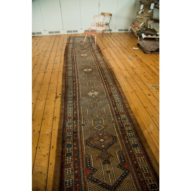 "Vintage Serab Rug Runner - 3'3"" x 16'8"" For Sale - Image 5 of 7"