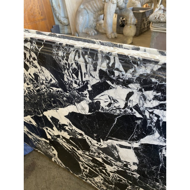 Stone 19th Century Black Marble Entryway Shelf/Fireplace Surround For Sale - Image 7 of 13