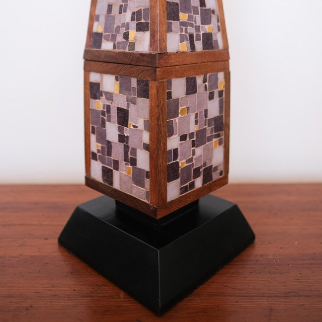 Pair of Mosaic Lamps, 1950s For Sale - Image 4 of 9