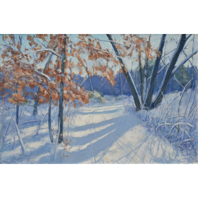 Inspired from a walk on a bright and sunny winter's day on the trails behind my house in New England. The warm hues of the...