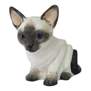 Vintage Porcelain Siamese Cat Planter For Sale