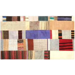 "Nalbandian - 1970s Turkish Patchwork Kilim - 3' X 4'11"" For Sale"