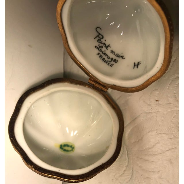 French Limoges Melon Shaped Trinket Box For Sale - Image 9 of 10