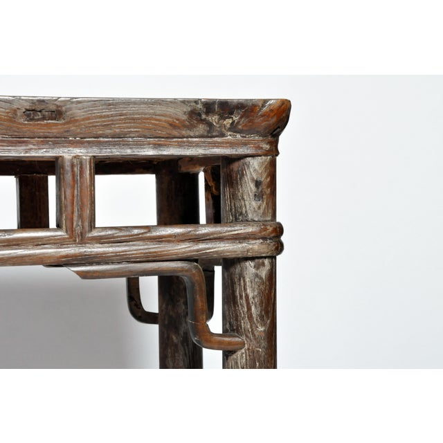 Qing Dynasty Altar Table with Rounded Legs and Original Lacquer - Image 8 of 11