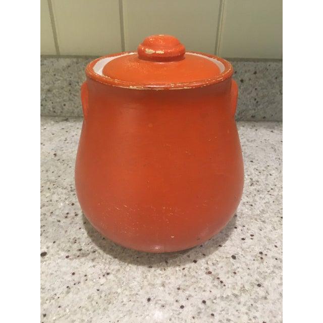 Orange Floral Cookie Jar - Image 4 of 8