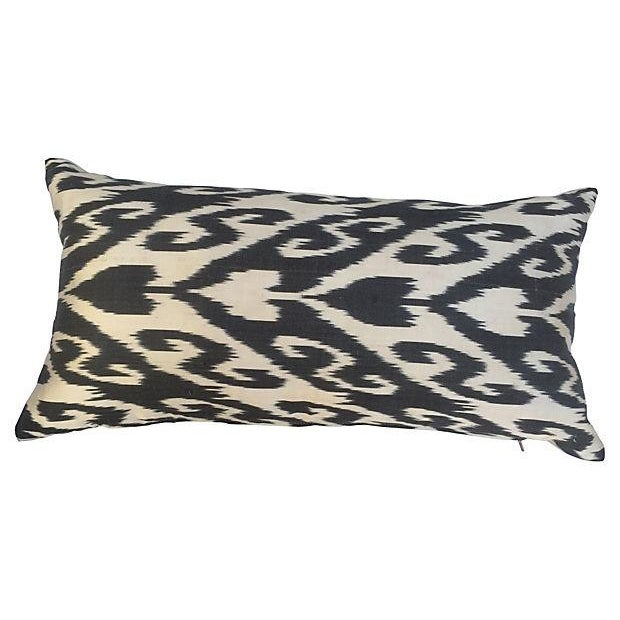 Custom pillow made from a vintage silk ikat from the Grand Bazaar in Istanbul. New Linen back, down feather insert and...