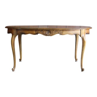 French Country Oval Extension Dining Table For Sale