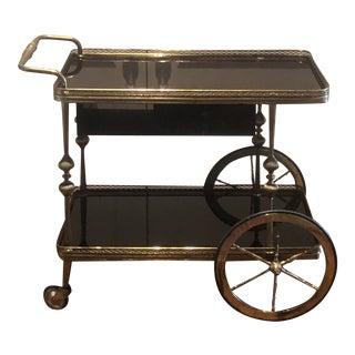 Vintage English Trolley Bar or Dessert Cart For Sale