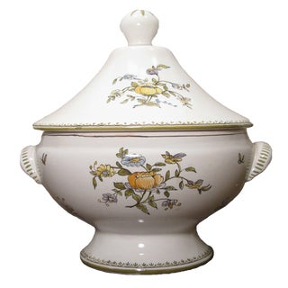 French Vintage Moustiers Faience Tureen For Sale
