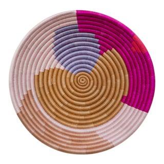 Indego Africa Handwoven Mauve Form Plateau Basket For Sale