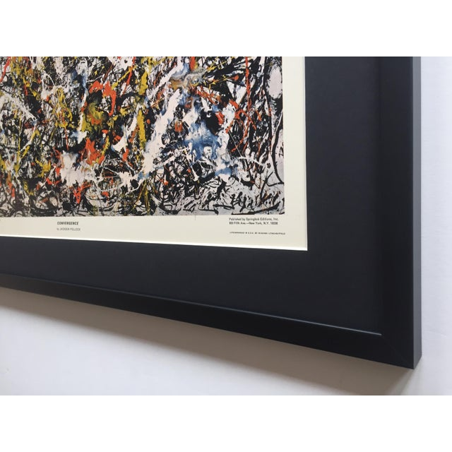 """Jackson Pollock Rare Vintage 1964 Mid Century Modern Framed Abstract Expressionist Lithograph Print """" Convergence """" 1952 For Sale - Image 11 of 13"""
