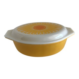 Sunshine Floral Casserole Cookware Container For Sale
