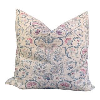 """Ralph Lauren Vintage Textile Neutral Lotus Flower """"Provence"""" Pillow For Sale"""