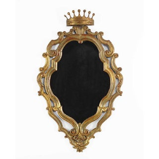 19th Century Italian Gilded Palladio Mirror With a Crown Preview