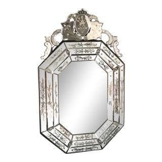 Large Octagonal Venetian Style Mirror For Sale