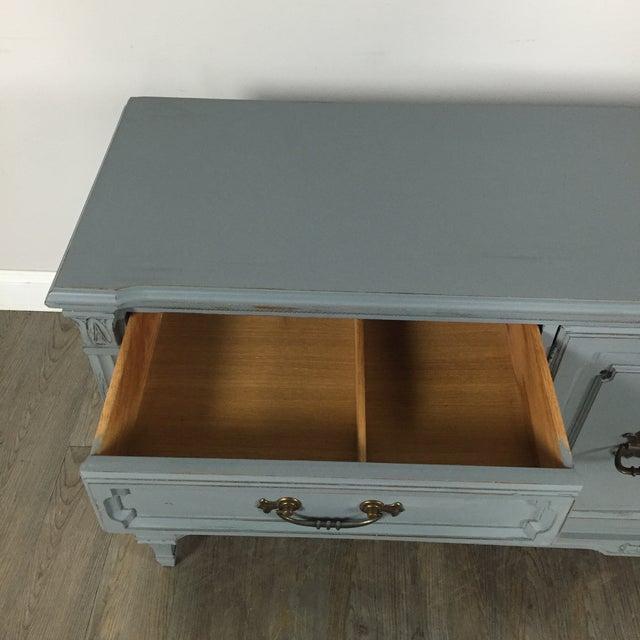 Vintage Gray-Blue Credenza - Image 9 of 11