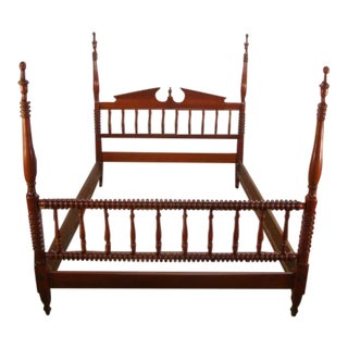 1970s Traditional Pennsylvania House Solid Cherry Full Size Poster Bedframe For Sale