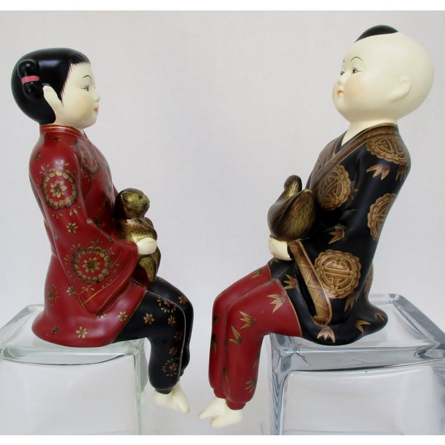 Porcelain Shelf-Sitters, a Pair - Image 3 of 8