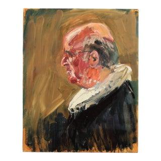 Mogens Hoff Contemporary Portrait of a Danish Priest, Ca. 1995 For Sale