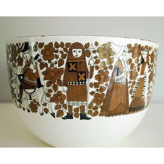Mid-Century Modern Mid Century Kaj Franck for Finel Enamelware Arabia Bowl For Sale - Image 3 of 8