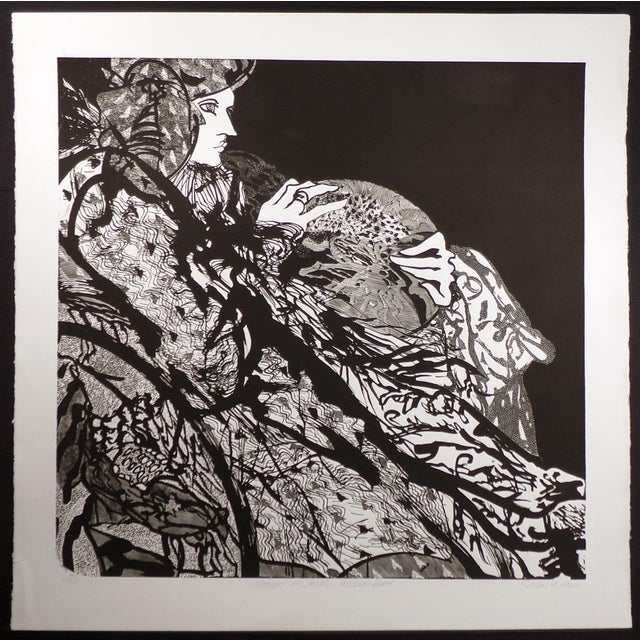 """Unframed Limited Edition Linocut. Hand signed by the artist. Paper Size: 42"""" x 42"""", Image Size: 35-1/2"""" x 36-1/2"""". Edition..."""