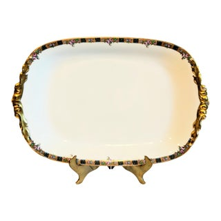 Jean Pouyat Limoges Large Porcelain Platter For Sale