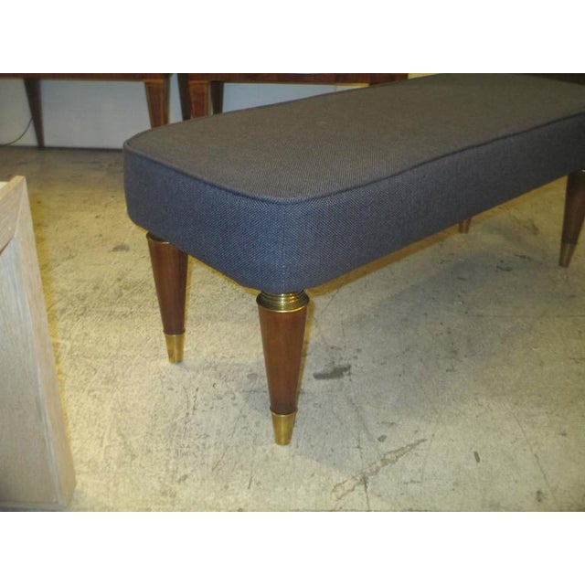 Mid 20th Century Pair of Italian Mid-Century Modern Upholstered Benches For Sale - Image 5 of 6