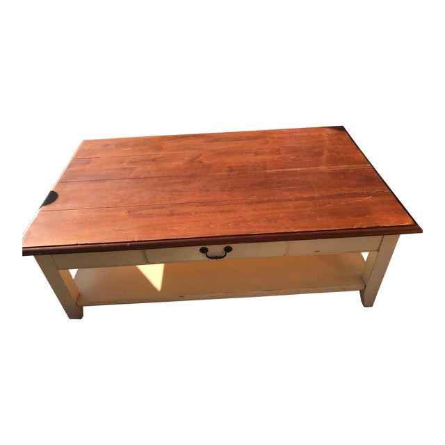 Ethan Allen French Country Style Coffee Table - Image 1 of 8