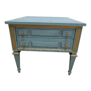 1970s Vintage Italian Regency Style Nightstand B For Sale