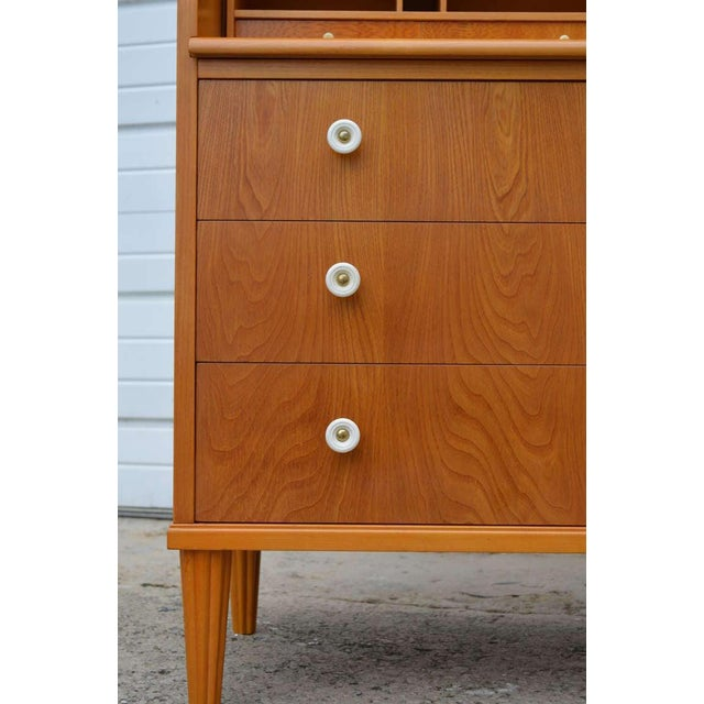 Swedish Art Moderne Elm Roll-Top Secretary Writing Desk For Sale - Image 10 of 11