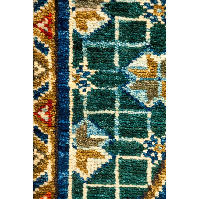 Traditional Tribal Style Hand Knotted Area Rug - 7' X 8' - Image 3 of 3