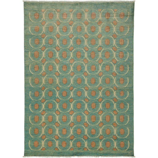 "Eclectic, Hand Knotted Area Rug - 5' 2"" x 7' 1"" For Sale"