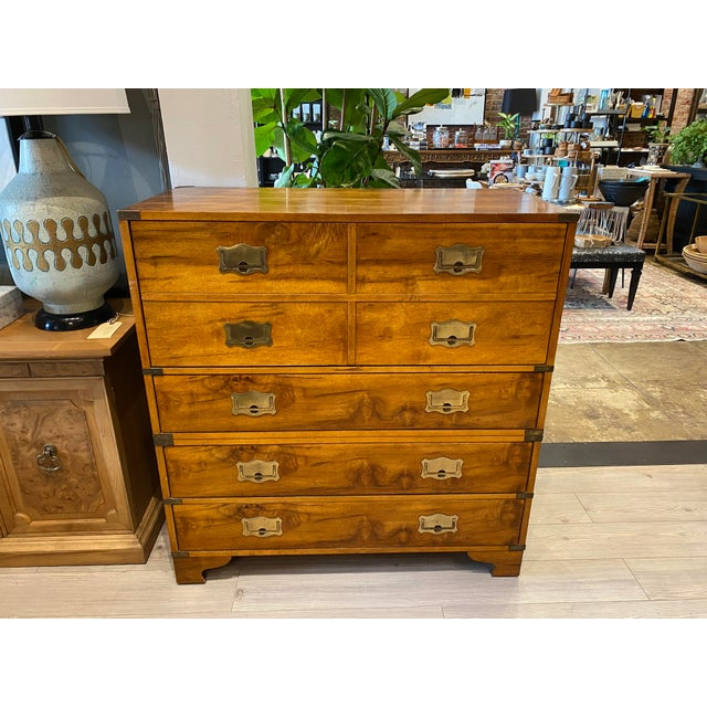 Mount Airy Furniture Company Campaign-Style Mid Century Modern Secretary Chest For Sale - Image 13 of 13