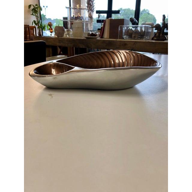 Nombré Contemporary Pewter Serving Dish For Sale - Image 4 of 8