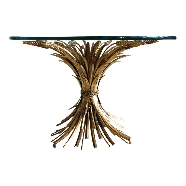 1960s Vintage Maison Baguès Sheaf of Wheat Coffee Table For Sale