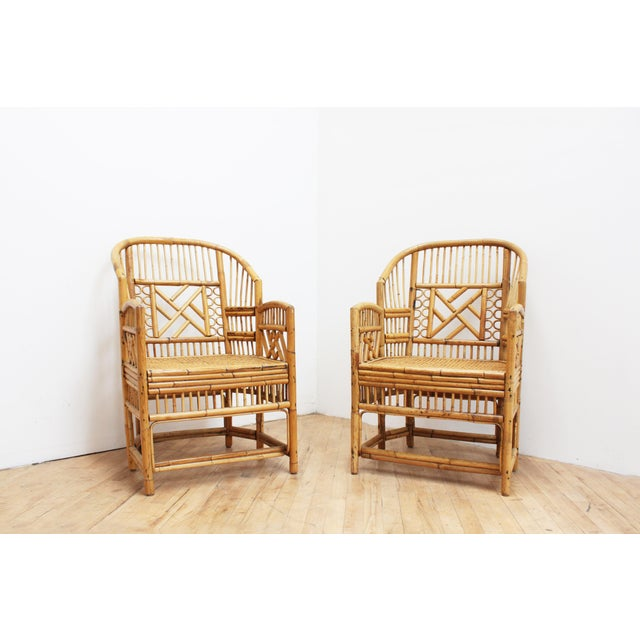 A Pair of Bamboo Brighton Pavilion Chairs - Chinese Chippendale For Sale - Image 10 of 10