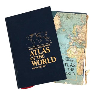 Vintage Atlas of the World Books - A Pair For Sale