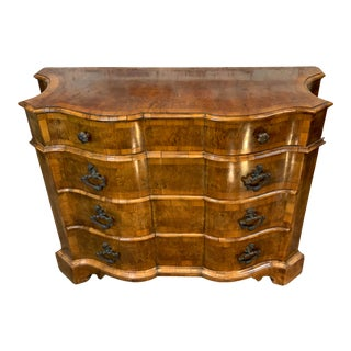 1940 Italian Walnut Four Drawer Commode With Original Patina For Sale