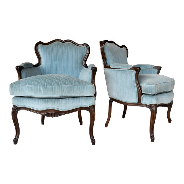 Pair of French Provincial Berger'e Chairs For Sale