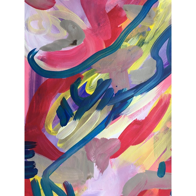Jessalin Beutler Original Abstract Painting on Paper For Sale - Image 4 of 6