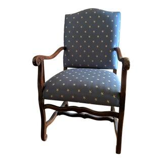 1990s Vintage Ethan Allen Bergere Armchair For Sale