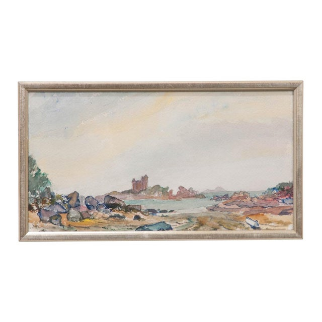 Late 19th Century 19th Century French School Watercolor Painting on Paper For Sale - Image 5 of 5