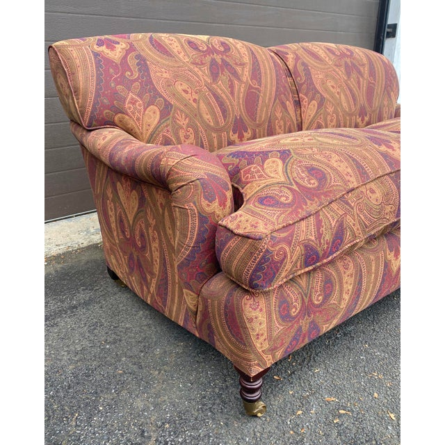 2010s George Smith Standard Arm Sofa For Sale - Image 5 of 7