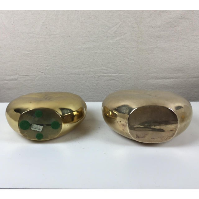 Art Deco Style Brass Vases - A Pair - Image 5 of 5