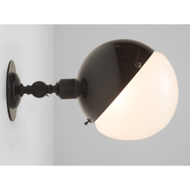 Mid-Century Modern 1960s Mid Century Italian Sconce Light Black For Sale - Image 3 of 4