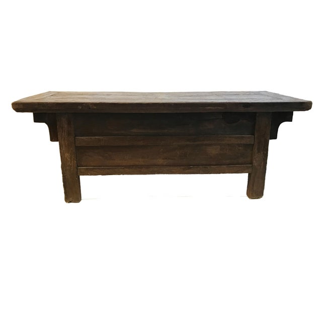 Tibetan Brown Drawers Low Altar Table Chest For Sale - Image 4 of 8