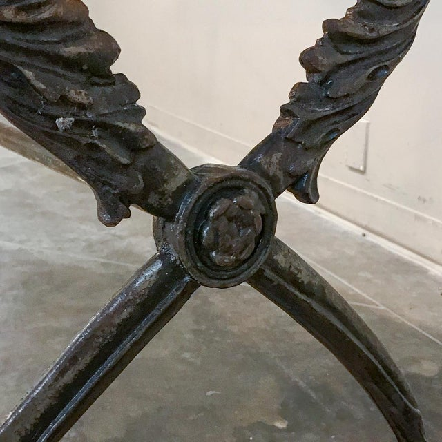19th Century Wrought Iron Marble Top Confectioner's Table For Sale - Image 9 of 12