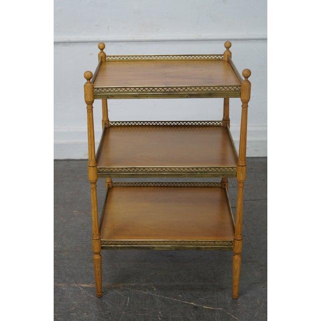 Walnut & Brass Side Table - Image 3 of 10