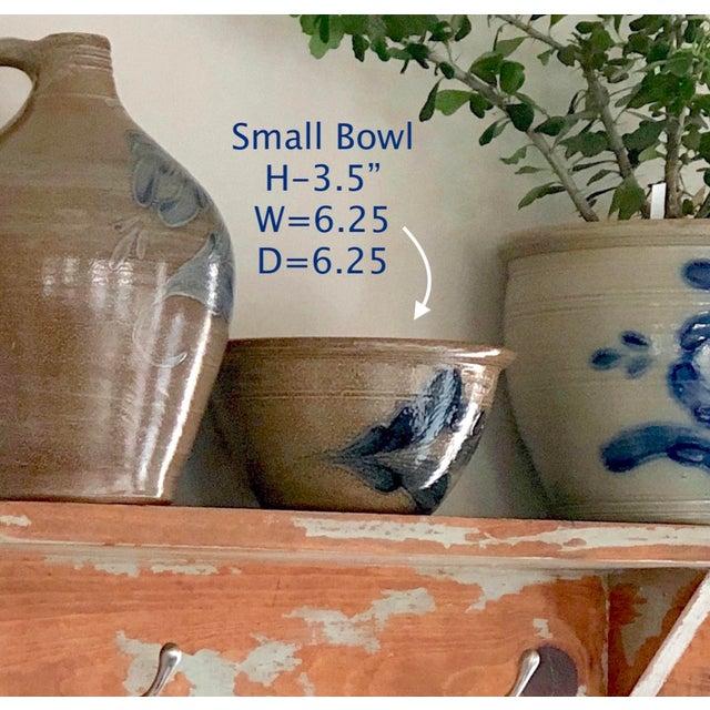 Beige Salt Glazed Berry Bowl - Vintage Farmhouse For Sale - Image 8 of 13