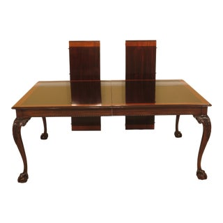 Chippendale Stickley Ball & Claw Mahogany Dining Room Table For Sale